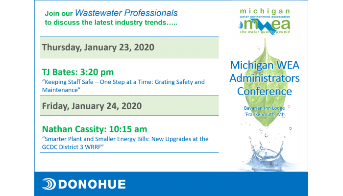 Donohue Presenters at Michigan WEA Administrators Conference Header Image